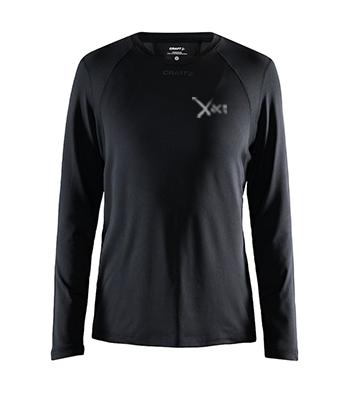 Højfunktionel langærmet T-shirt til kvinder